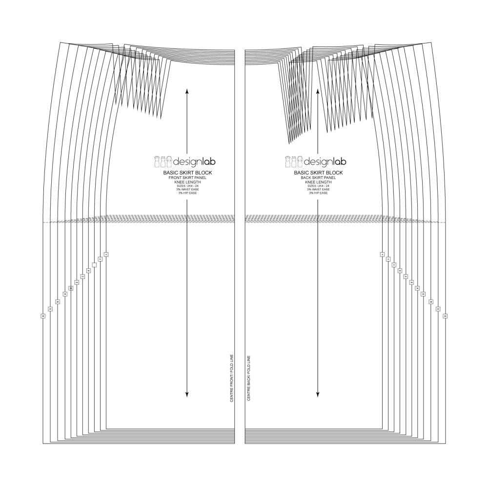 knee-length-basic-skirt-block-sloper-with-darts