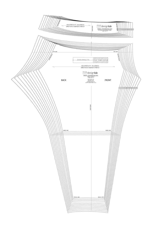 basic low waist leggings block with external waistband designlab