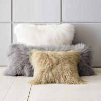 Mongolian Lamb Pillow Cover  Interior Design, Design News ...