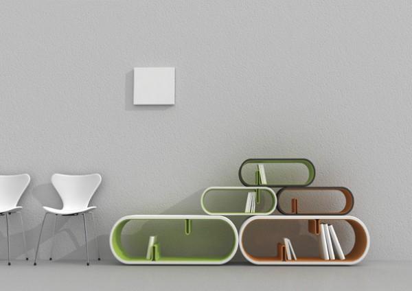 12 Creative Minimalist Bookshelf Designs Interior