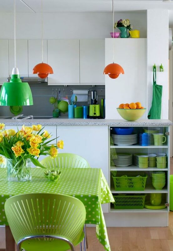 green-and-orange-kitchen-design