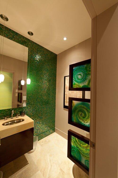 contemporary-dark-green-bathroom