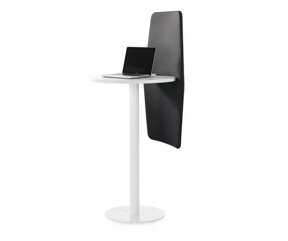 Isla-individual-workdesk-with-sound-absorbency-partition-Abstracta