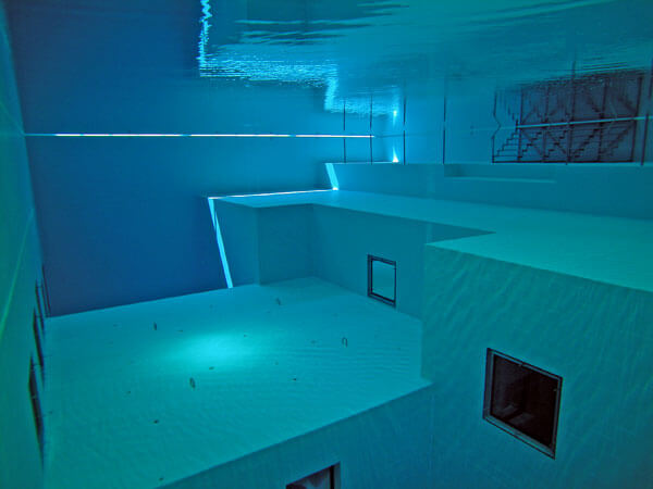 The deepest indoor swimming pool in the world interior design design news and architecture trends for Deepest indoor swimming pool in the world