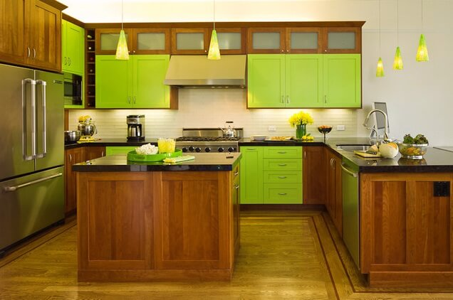 modern-green-kitchen-island