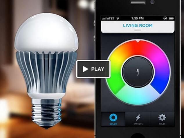 LED-light-bulb-controlled-by-phone-app