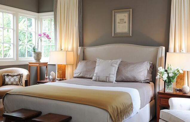 White-bed-headboard