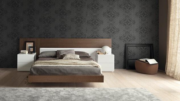 Wood-bed-headboard
