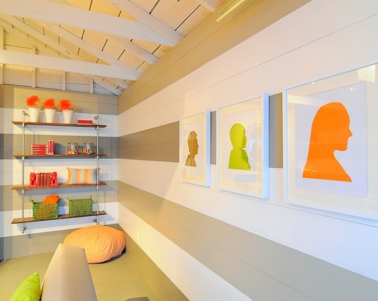 Low budget garage makeover by kerrie kelly design lab for Pictures of painted garage walls