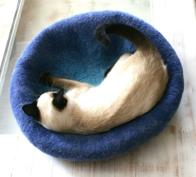Teal-to-blue-cat-bed