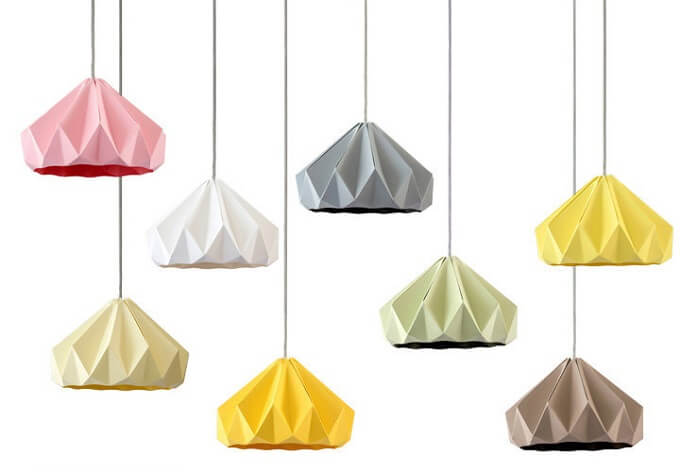 Beautiful Origami Lampshade For Paper Lovers Chestnut By Studio