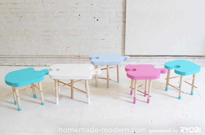 Kids-stools-home-made