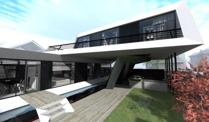 futuristic concept modern steep architecture studio designed interior space open designlike