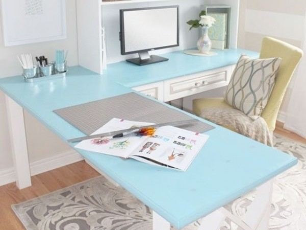 Home Office White with blue details