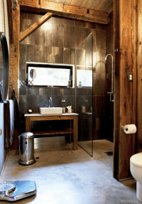 Rustic Industrial Bathrooms  Interior Design, Design News