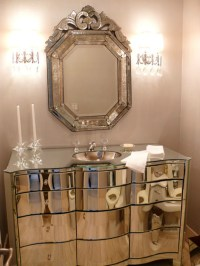 Chic bathrooms with venetian mirrors  Design Limited Edition