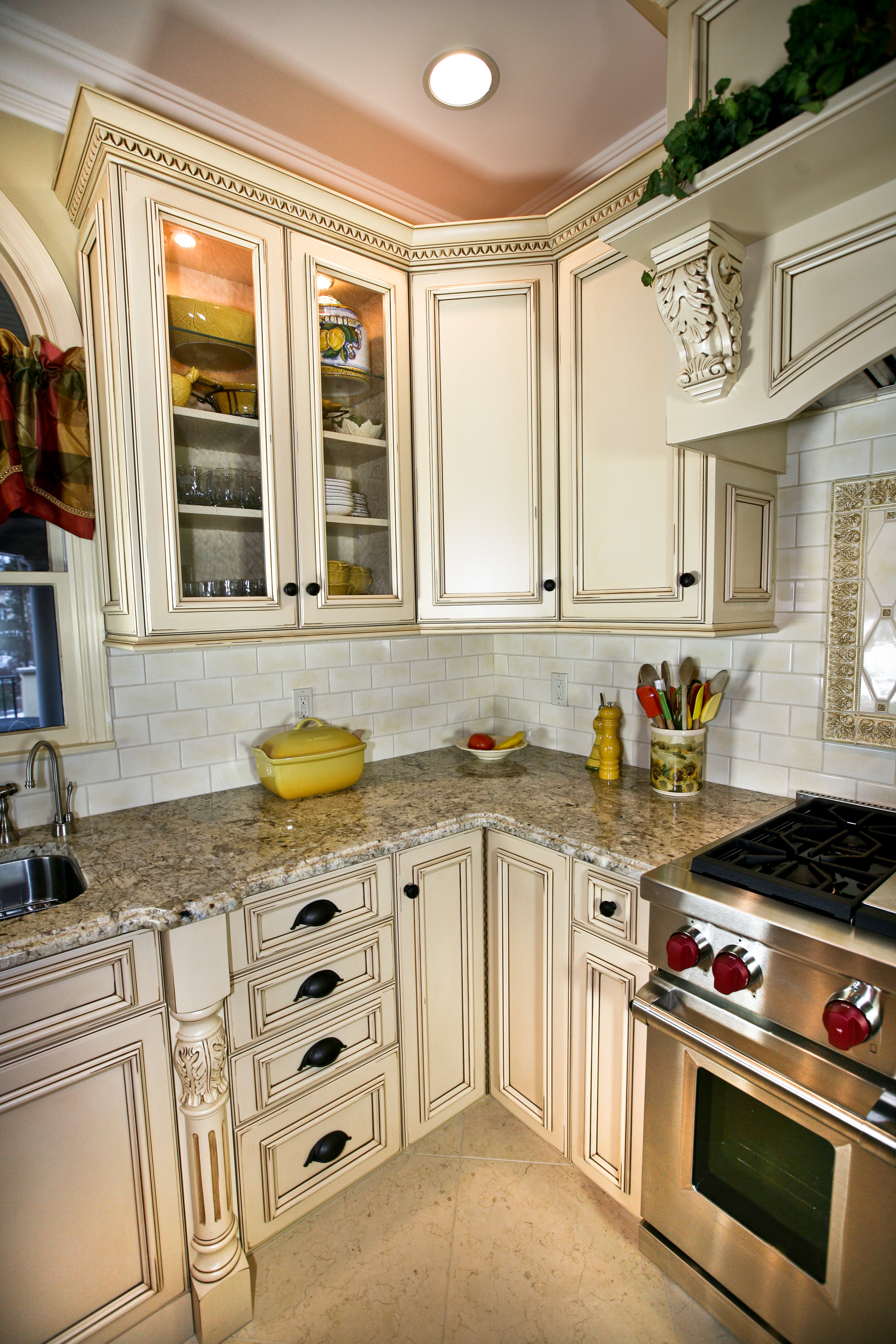 New Kitchen Cabinet Country French Elegance Manasquan New Jersey By Design
