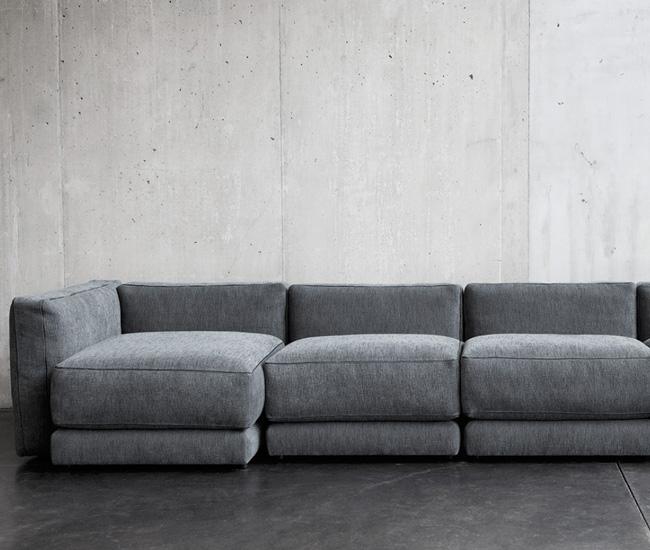 montreal sectional sofa in slate elliot fabric microfiber queen sleeper montauk toronto high quality handmade sofas and seating