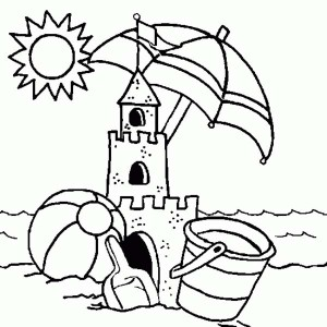 Sandcastle coloring, Download Sandcastle coloring for free