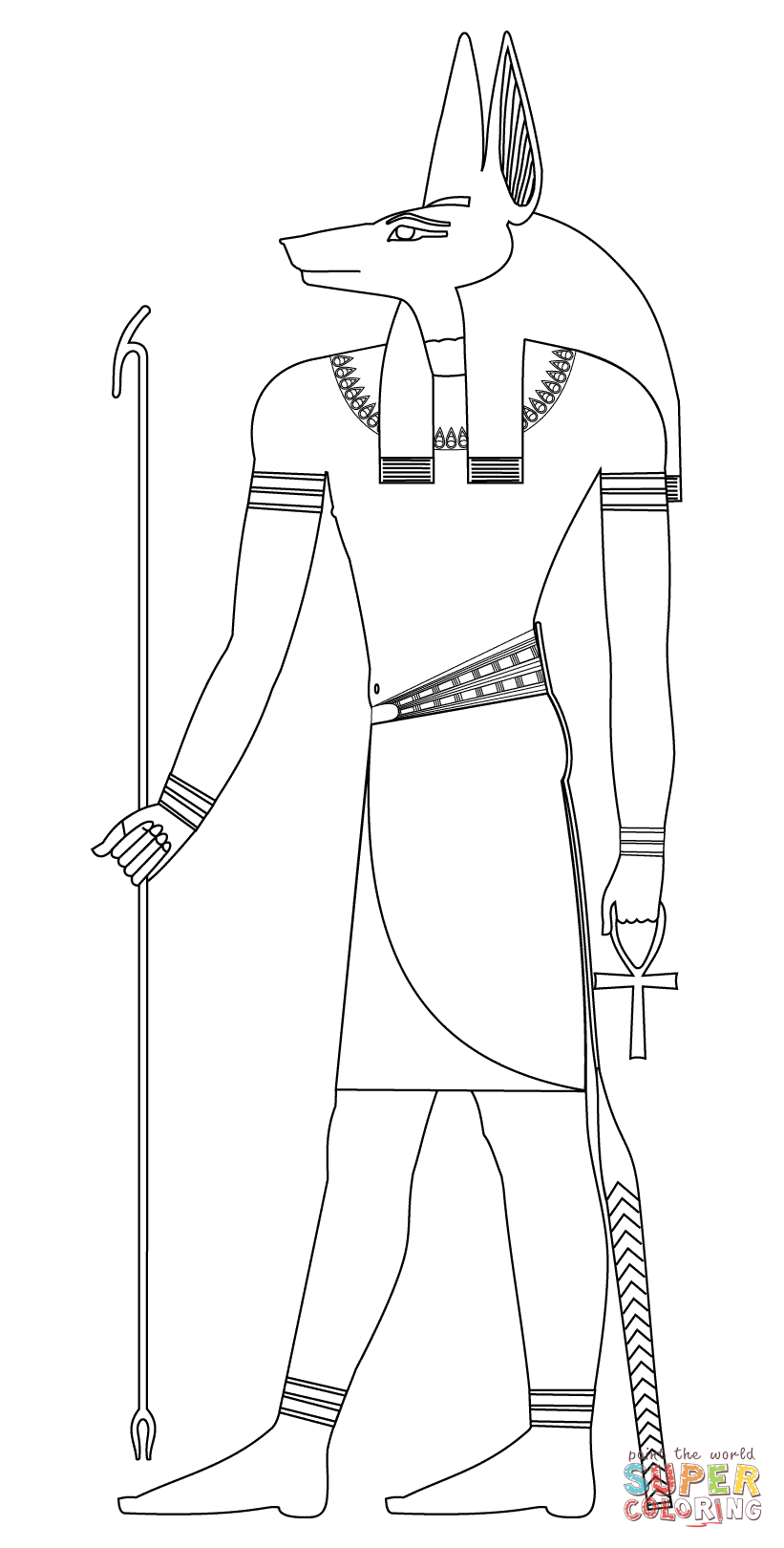 Anubis coloring, Download Anubis coloring for free 2019