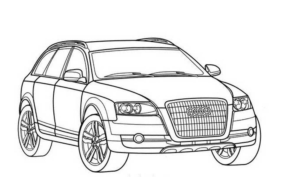 Audi coloring, Download Audi coloring for free 2019