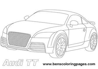 Audi coloring, Download Audi coloring