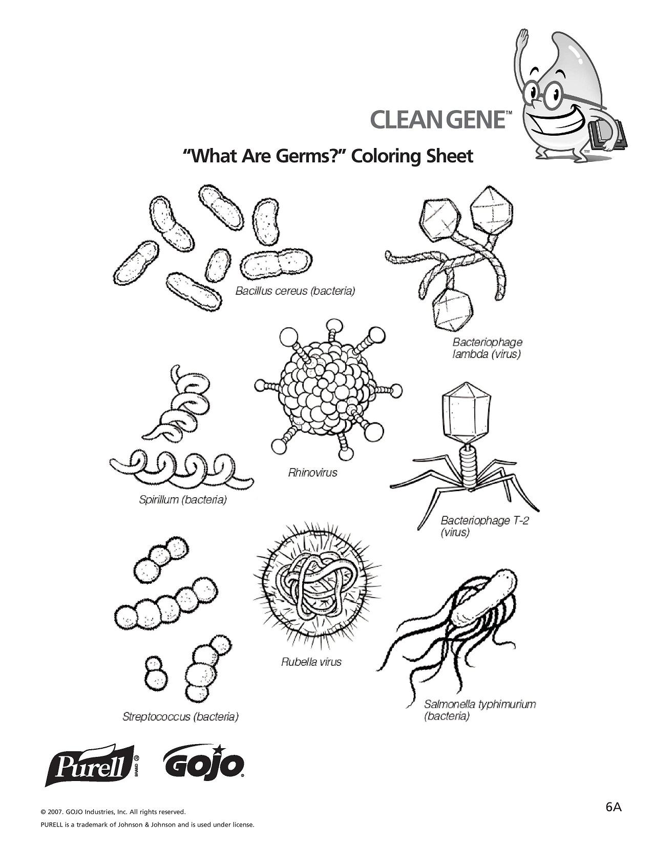 Germs coloring, Download Germs coloring