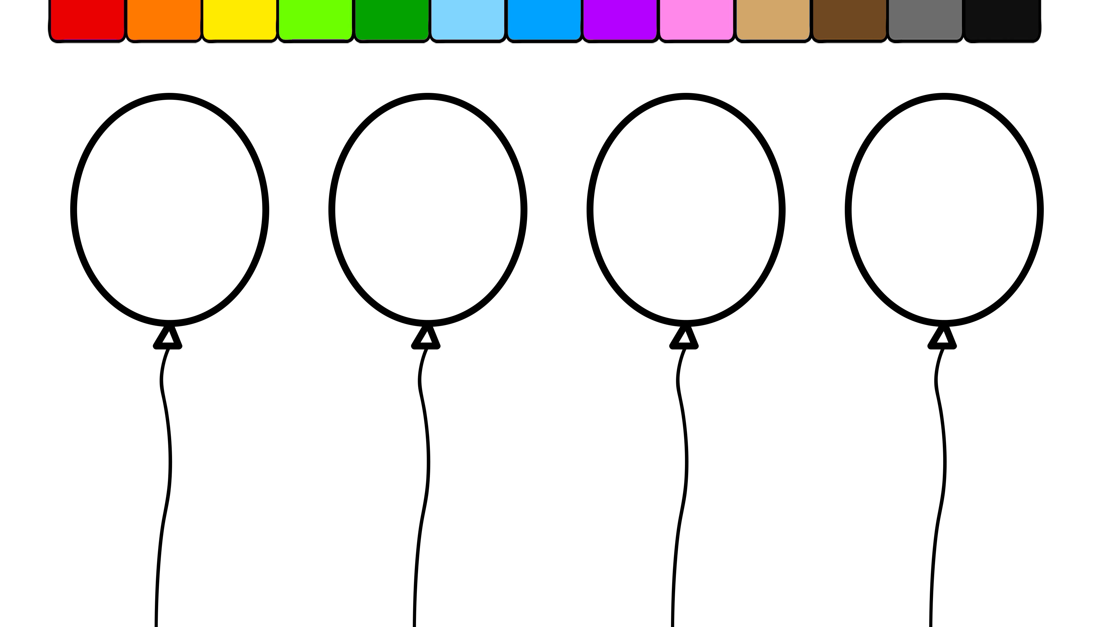 Balloon Coloring Download Balloon Coloring For Free