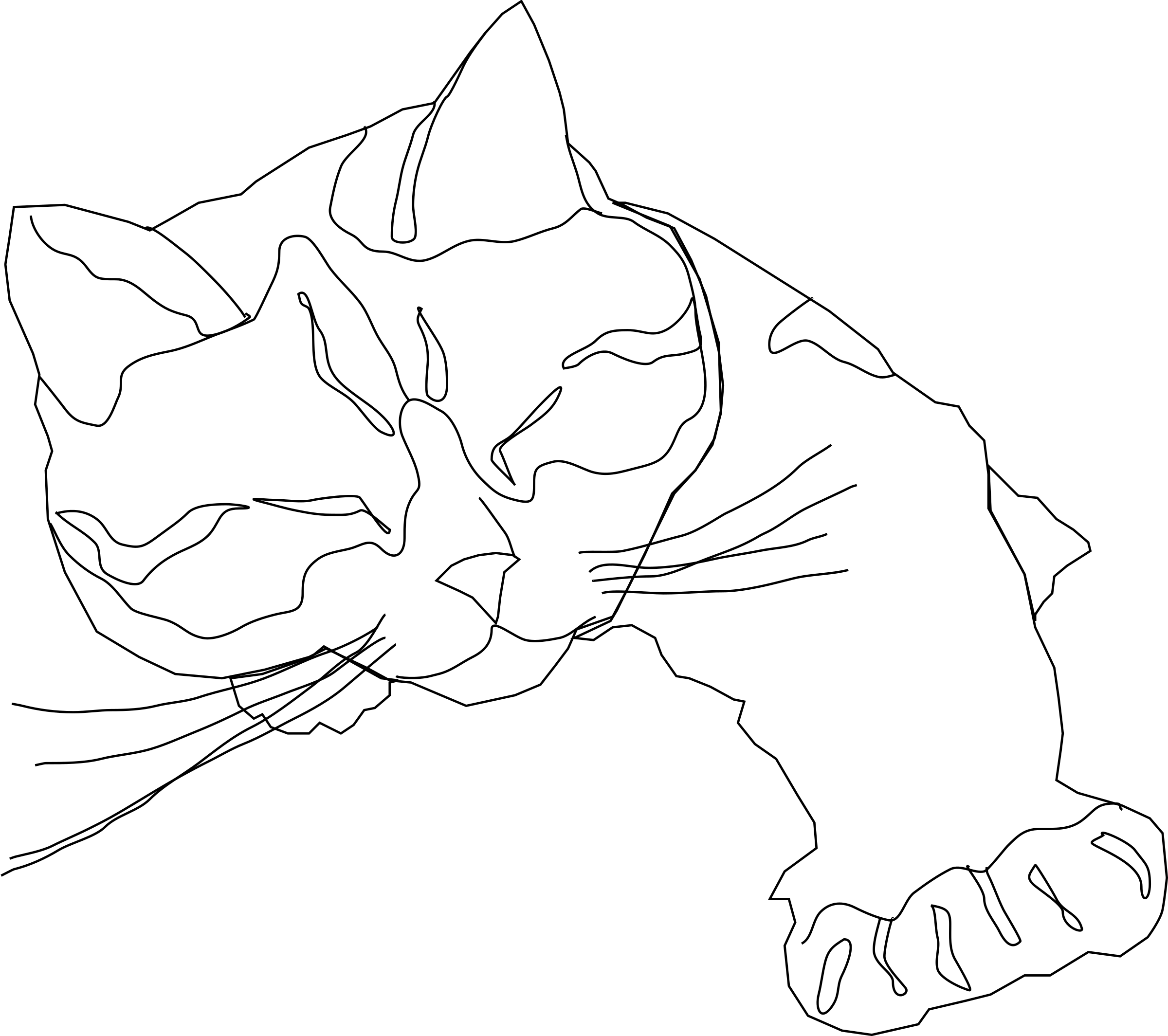 Download Calico Cat Coloring For Free