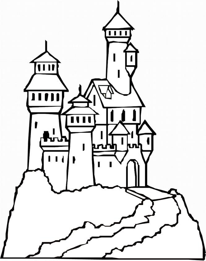 Hogwarts Castle coloring, Download Hogwarts Castle
