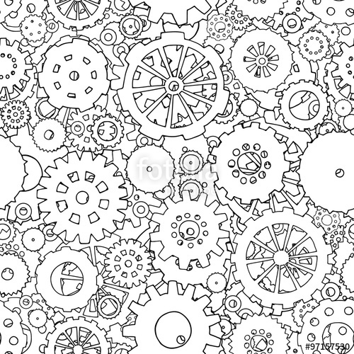 Cogs coloring, Download Cogs coloring