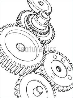 Cogs coloring, Download Cogs coloring for free 2019