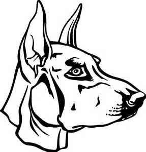Download Doberman Pinscher coloring for free