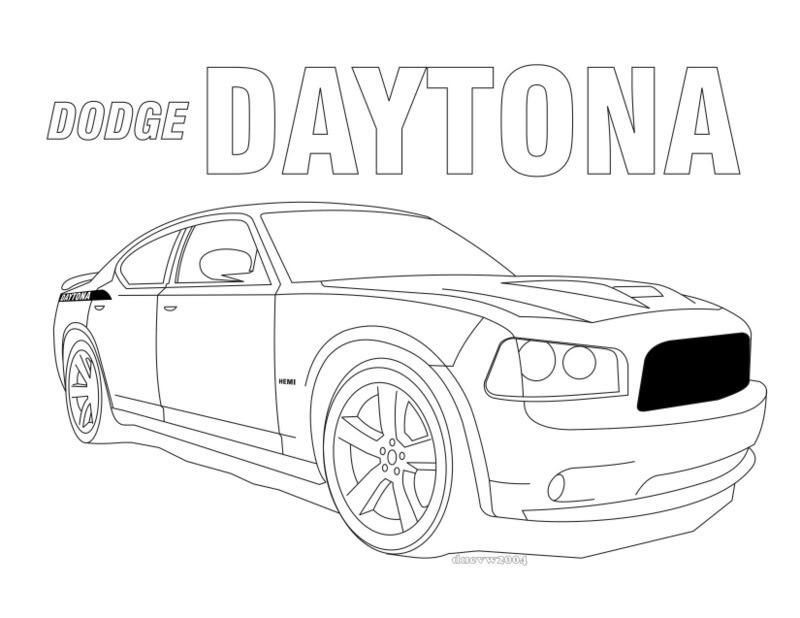 Dodge Challenger SRT8 coloring, Download Dodge Challenger