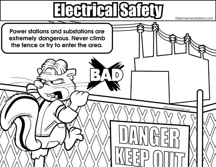 Electricity coloring, Download Electricity coloring