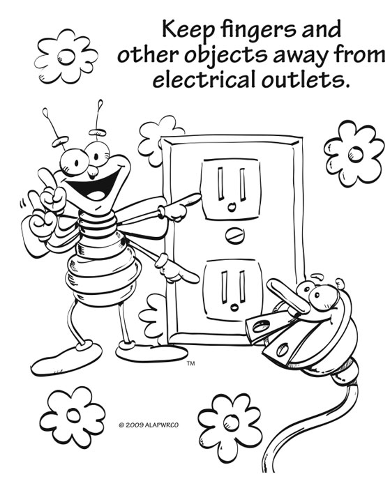 Electricity coloring, Download Electricity coloring for
