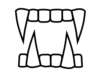 fangs clipart teeth vampire drawing fang cartoon clip halloween cliparts pages coloring dracula library drawings holidays happy designlooter diablos los