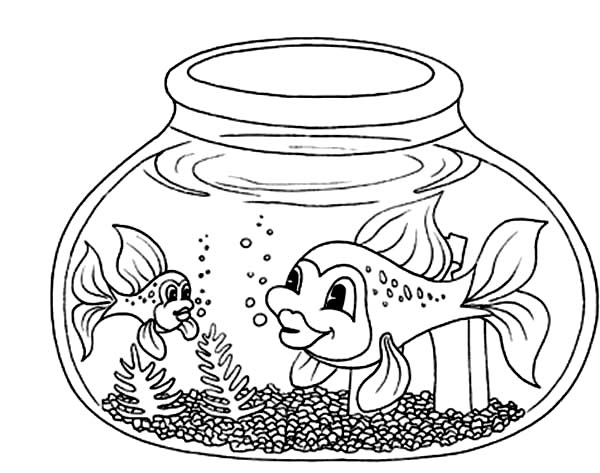 Fish Bowl coloring, Download Fish Bowl coloring