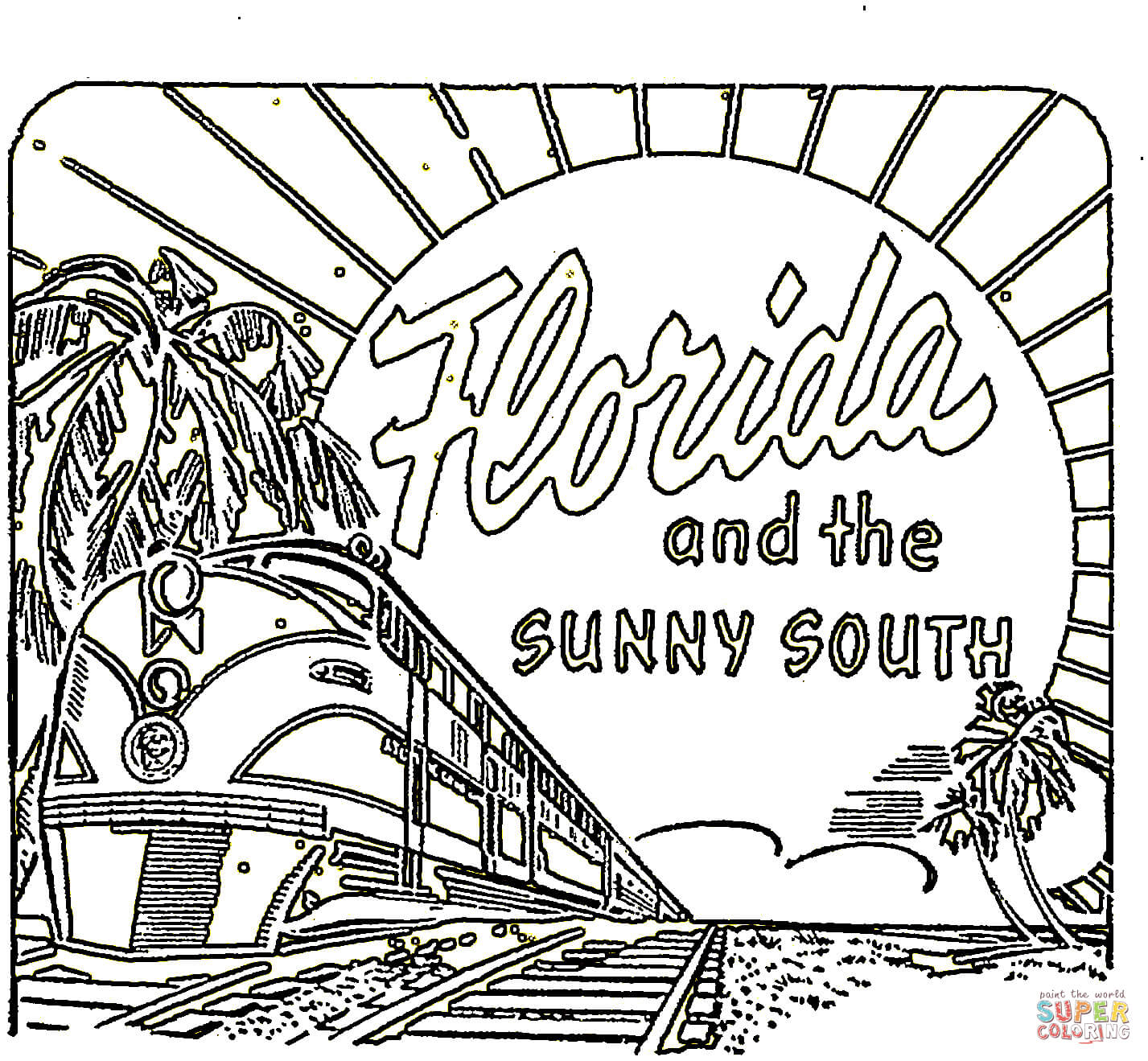 Download Florida Coloring For Free