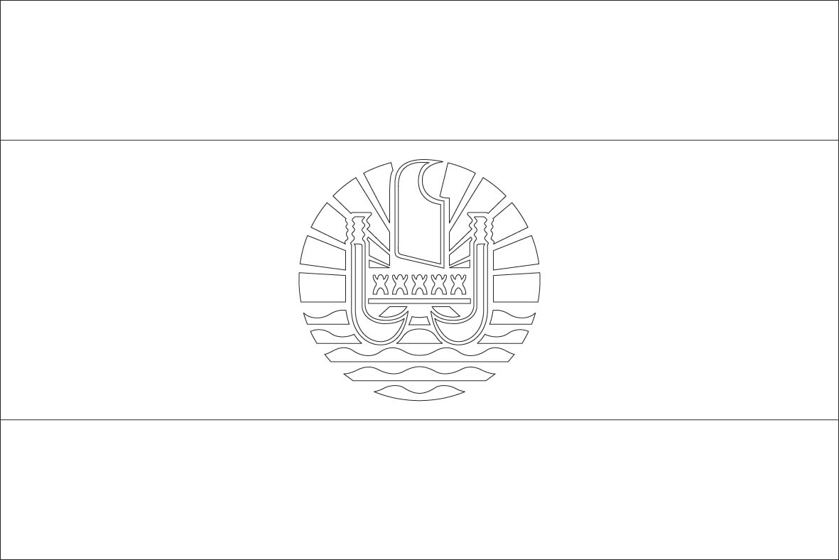 French Polynesia Flag Coloring Pages