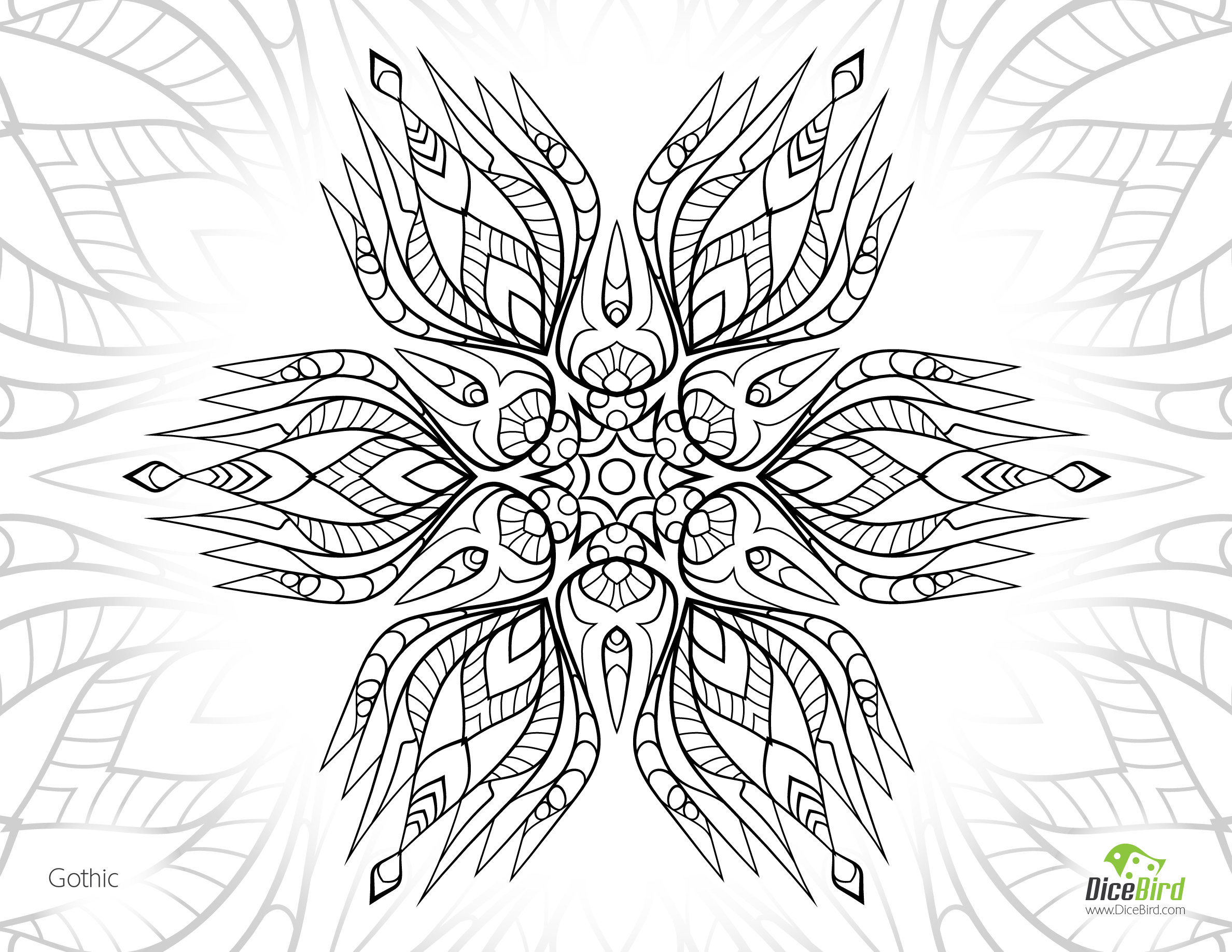 Gothic Adult Coloring Page | Adult Free Coloring Pages Image ...