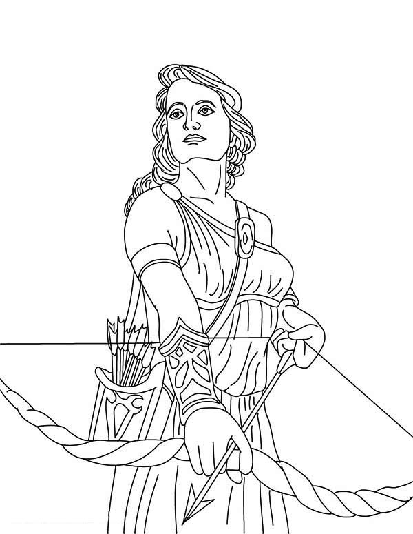 Greek Goddess coloring, Download Greek Goddess coloring