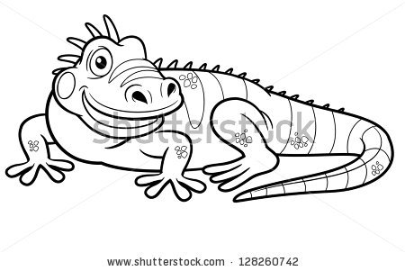 Green Iguana coloring, Download Green Iguana coloring for