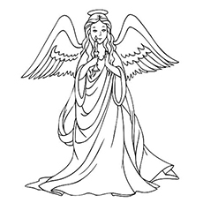 Guardian Angel coloring, Download Guardian Angel coloring