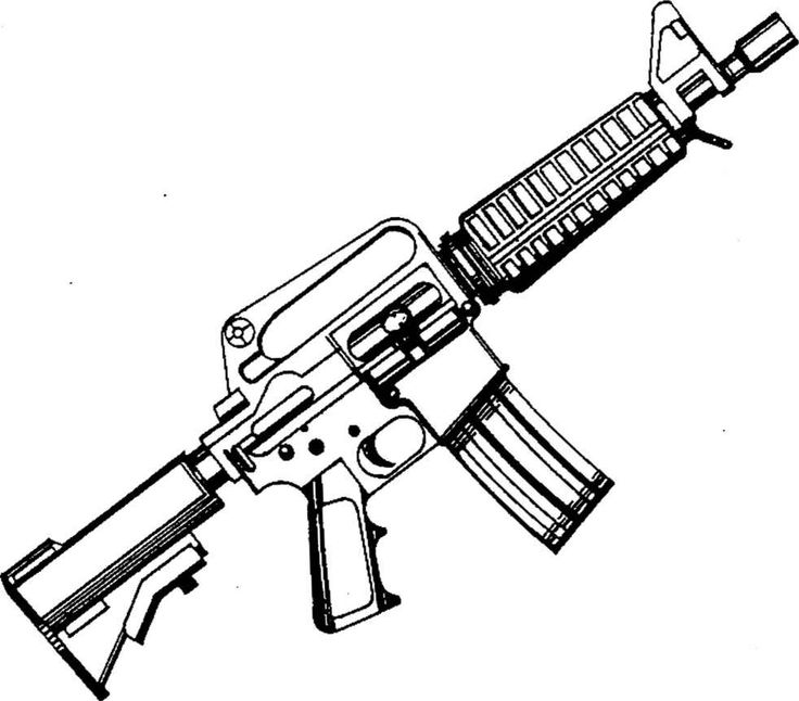 Assault Rifle coloring, Download Assault Rifle coloring