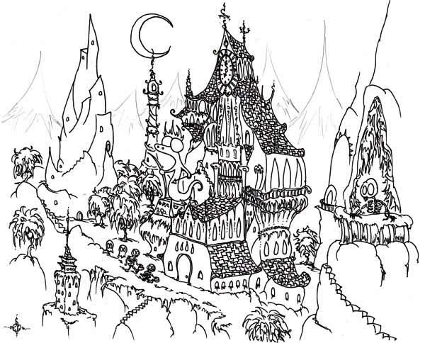 Haunted coloring, Download Haunted coloring