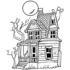 Haunted House coloring, Download Haunted House coloring