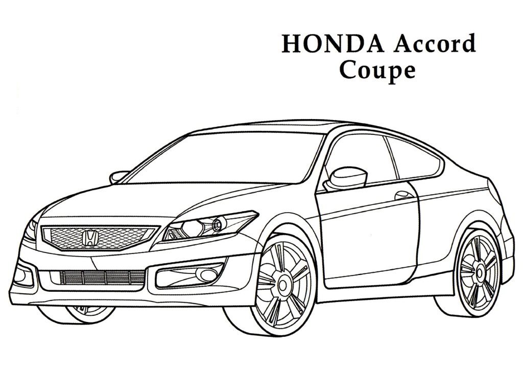 Honda Civic Hatchback Drawing Sketch Coloring Page