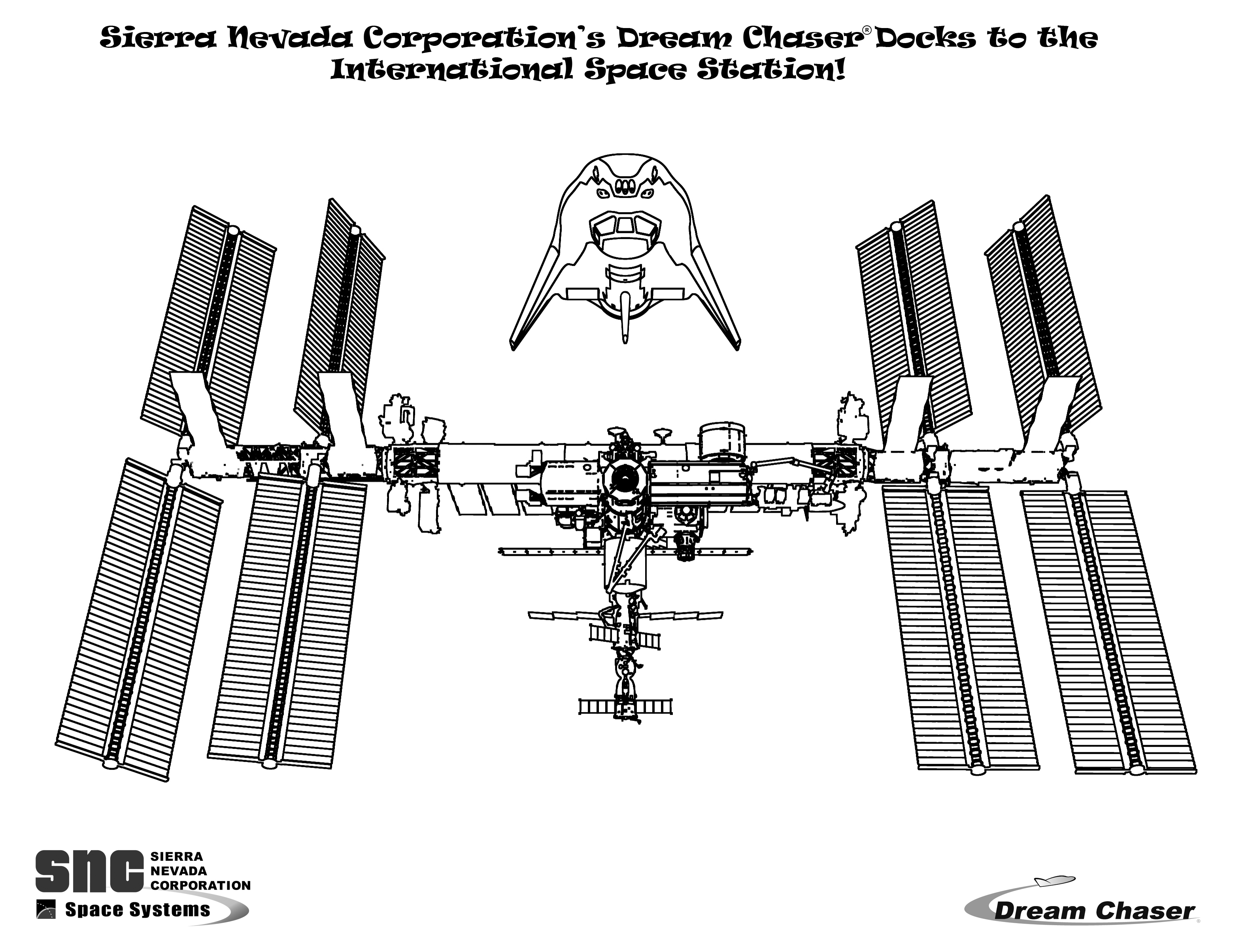 International Space Station Coloring Download