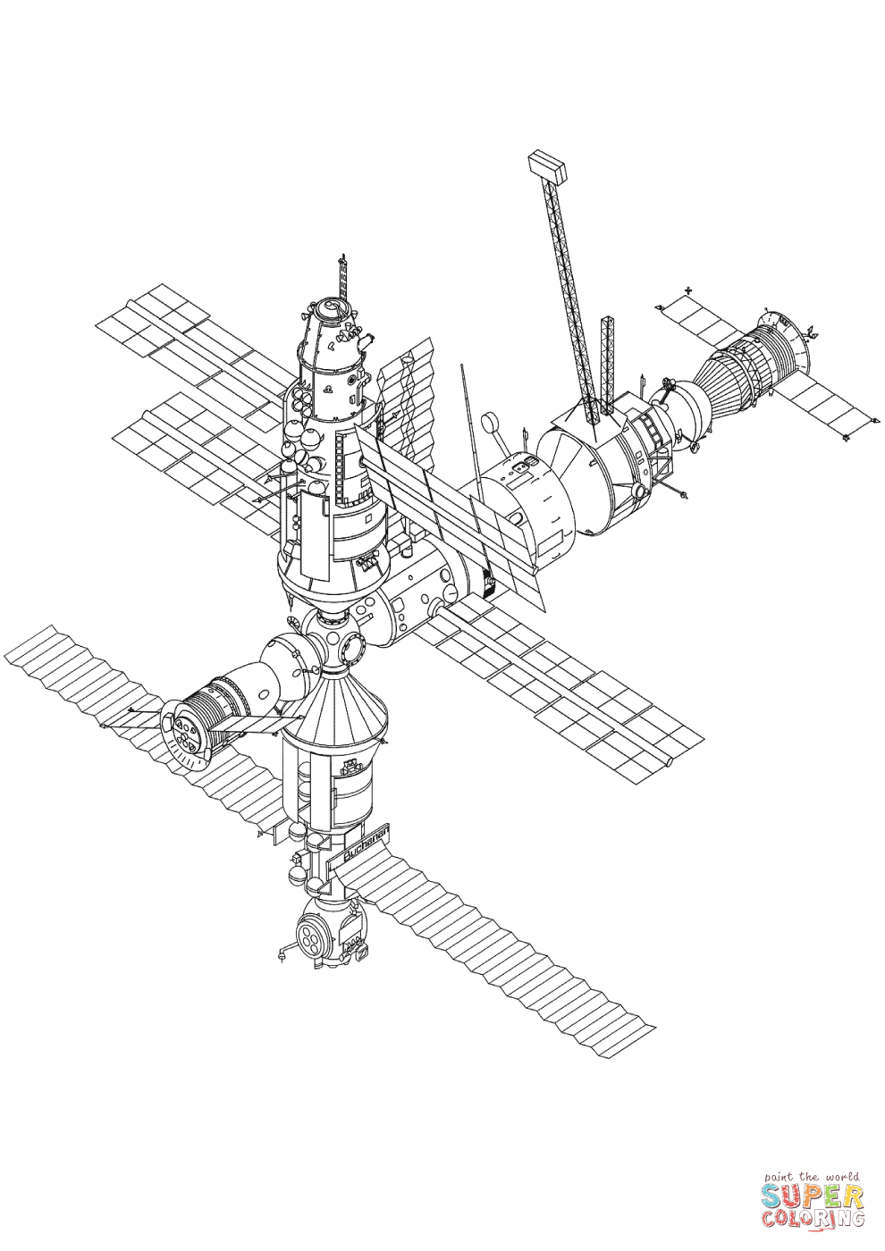 International Space Station coloring, Download